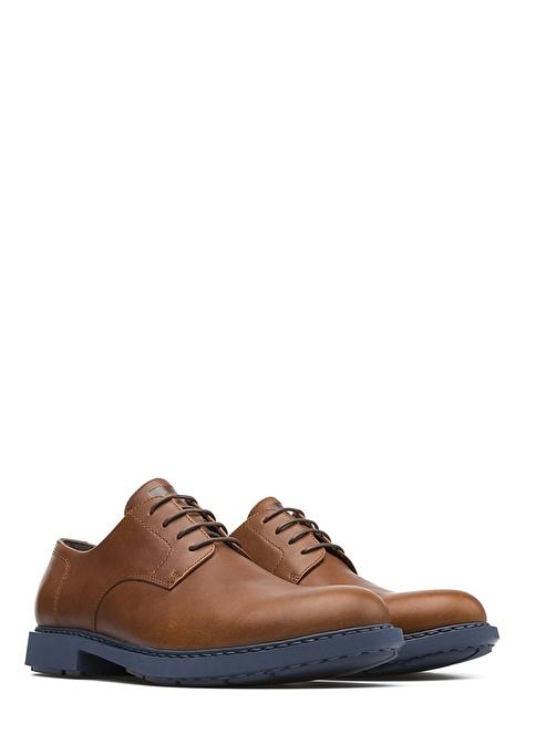 Camper %100 Deri Bağcıklı Ayakkabı Kahve